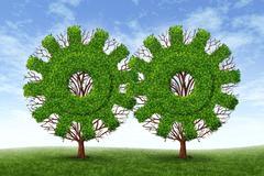Growing business partnership Stock Illustration