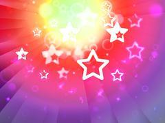 Stock Illustration of stars background shows shining stars or glittery design.