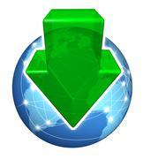 Global digital downloads Stock Illustration