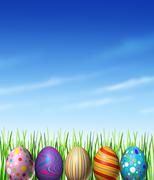 Easter spring decoration Stock Illustration