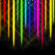 Colorful streaks background shows space and colors display. Stock Illustration