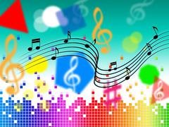 music background shows pop classical or rock. - stock illustration