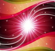 Star background shows bright stars and ripples. Stock Illustration