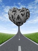 Stock Illustration of road trip love