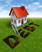 Stock Illustration of real estate recovery