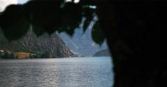 4k, revealshot oppstrynsvatnet, norway Stock Footage
