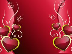 Stock Illustration of hearts background shows affection  attraction and passion.