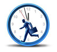 Urgent business deadlines Stock Illustration