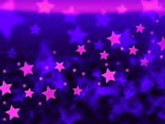 Stock Illustration of purple stars background shows celestial light and starry.