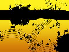 Music background means black line classical and harmony. Piirros
