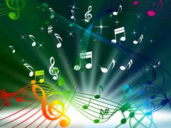 green music background means tune sounds and piece. - stock illustration