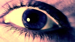 Eye Close Up Blue VJ Loop On The Beat - stock footage