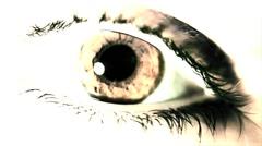 Eye Close Up Pal VJ Loop On The Beat - stock footage