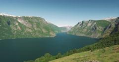 4k, scenic viewpoint at stegasten, norway Stock Footage