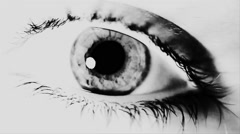Eye Close Up VJ Loop Black And White On The Beat - stock footage