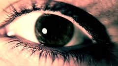 Eye Close Up High Contrast VJ Loop On The Beat - stock footage
