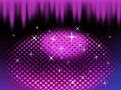 Purple eye shape background means circles ovals and spikes. Stock Illustration