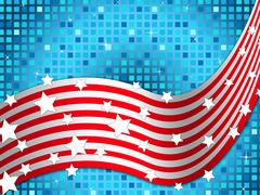 american flag background means nation and glittering squares. - stock illustration