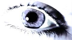 Eye Close Up Pal Purpl VJ Loop On The Beat - stock footage