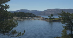 4k, idyllic sognefjord bay, norway Stock Footage