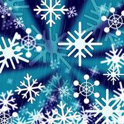Blue snowflakes background means freezing seasons and christmas. Stock Illustration