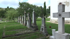 Ancient cemetery in Varna. Bulgaria. 4K. Stock Footage