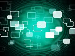 Technology background shows data it and telecommunications. Stock Illustration