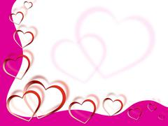 Stock Illustration of hearts background shows love desire and pink.