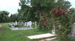 Ancient cemetery in Varna. Bulgaria. 4K. Stock Footage