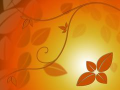 Stock Illustration of fine leaves background shows autumn season beauty.