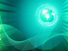 Stock Illustration of earth background shows global transfer and communication.