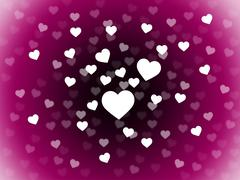 Stock Illustration of bunch of hearts background means attraction  affection and in love.