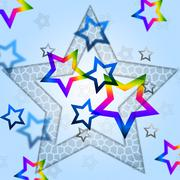 Stock Illustration of blue stars background means heavenly body and shining.