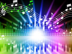 Music colors background means songs singing and musical. Piirros