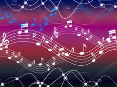 Music background shows musical song and harmony. Stock Illustration