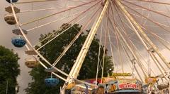 Carousel wheel Stock Footage