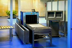 Airport metal detector Stock Photos