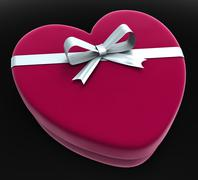 Stock Illustration of gift heart means valentine day and gift-box