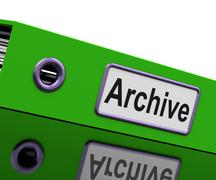Archive file means archives business and storage Stock Illustration