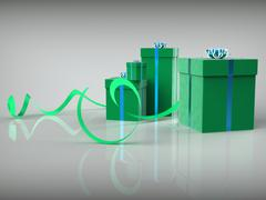 Stock Illustration of giftboxes celebration indicates gift-box occasion and joy