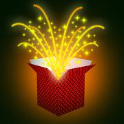 Giftbox stars shows valentines day and celebrate Stock Illustration