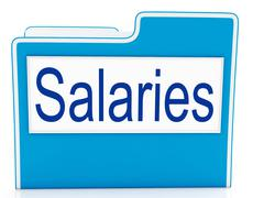 salaries file means files money and organized - stock illustration