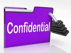 confidential security means restricted organize and confidentially - stock illustration