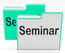 Files seminar indicates workshop folder and organize Stock Illustration