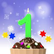 birthday celebration indicates party happy and joy - stock illustration
