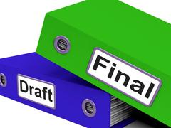Stock Illustration of final draft represents document key and complete
