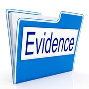Evidence file represents folders paperwork and document Stock Illustration