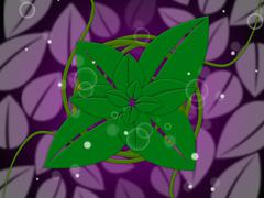 Floral background represents botanic florist and design Stock Illustration