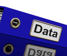 Stock Illustration of data storage indicates hard drive and administration