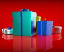 celebration giftbox indicates joy giftboxes and occasion - stock illustration